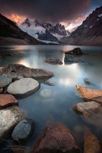 lake reflection mountain