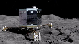 Artist rendition of Rosetta landing of Philae Lander Nov 2014