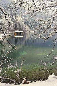winter lake in bavaria