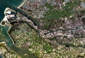 Satellite-image-of-Europoort- Rotterdam)