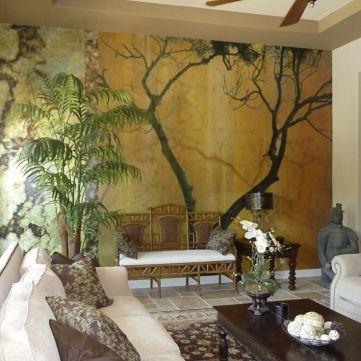 mural tree livingroom