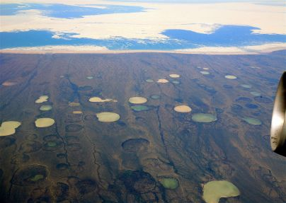 Permafrost_thaw_ponds_in_Hudson_Bay_Canada_near_Greenland