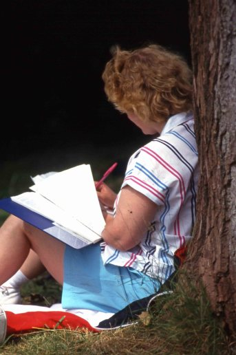 Writing-under-tree