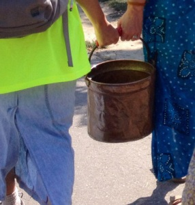 carrying-water pail