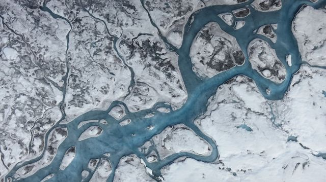 Greenland ice melt rivers