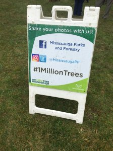 Mississauga sign for tree planting