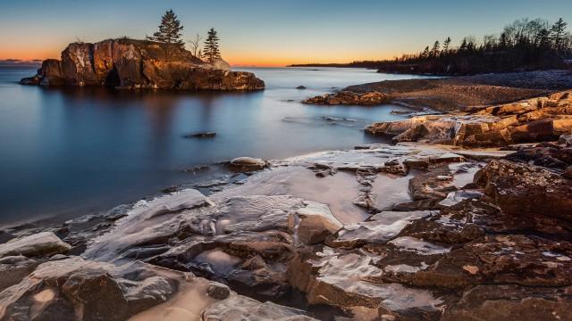 Lake Superior at dusk