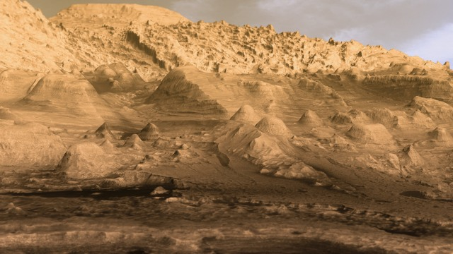 gale crater mars inverted channels