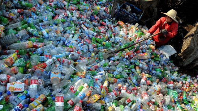 2 thirds plasticbottles in hongkong taiwan come from china