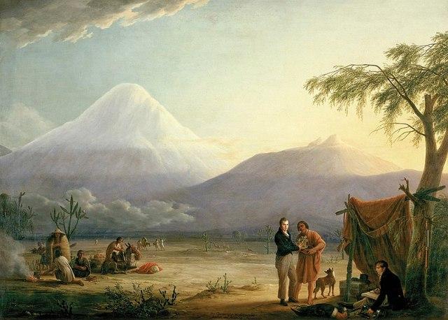 Humboldt-Bonpland_Chimborazo volcano-1810 by Friedrich GeorgWeitsch