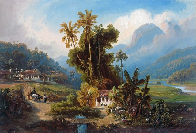 sugar plantation near puerto cabello by Ferdinand Bellermann