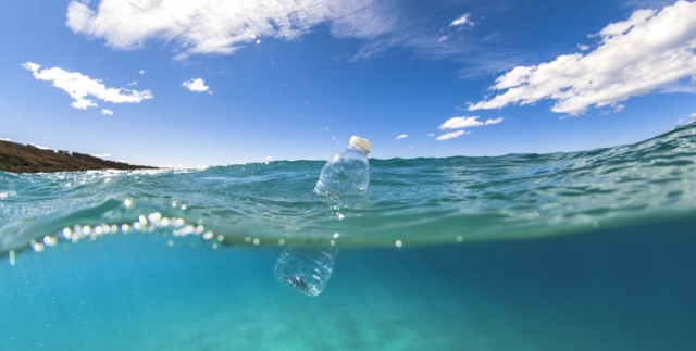 WaterBottle in Ocean