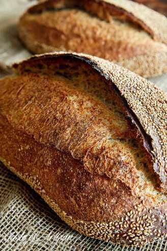 artisanal sesame bread