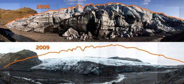 Solheim Glacier 2006 to 2009