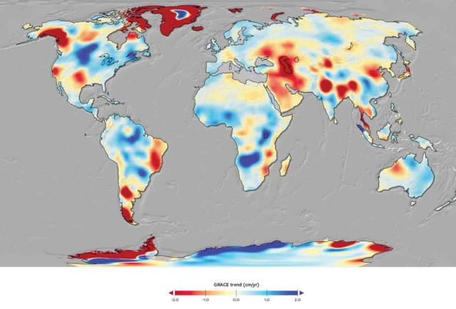 GRACE Map of water trend