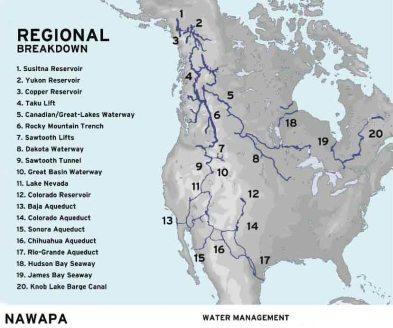 NAWAPA proposal Ralph M. ParsonsCo-1960s copy